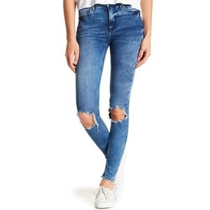 FREE PEOPLE Busted Knee Skinny Jeans Size 28